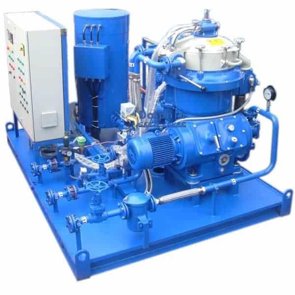 Crude Oil De-Watering Centrifuge Module to Remove Water and Fine Sludge