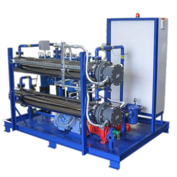 Heater Pump Filter Skid for Crude Oil