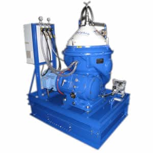 Self-Cleaning Centrifuge for Waste Vegetable Oil