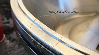 Sliding Piston Lip Erosion