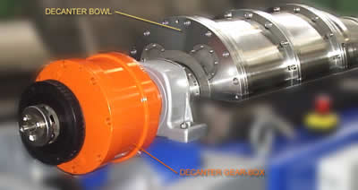 Decanter Gear-Box and Bowl