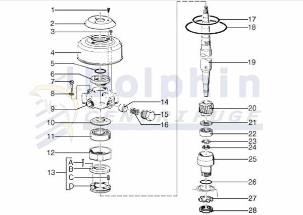 Disc Stack Centrifuge Parts - Vertical Transmission